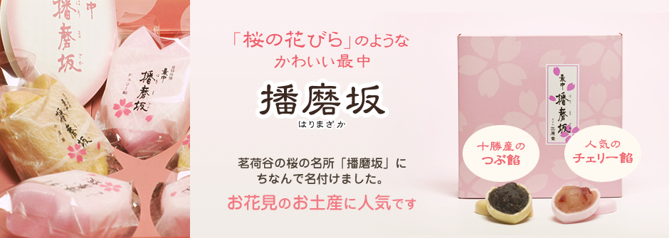 播磨坂 3月、4月、桜の季節の和菓子